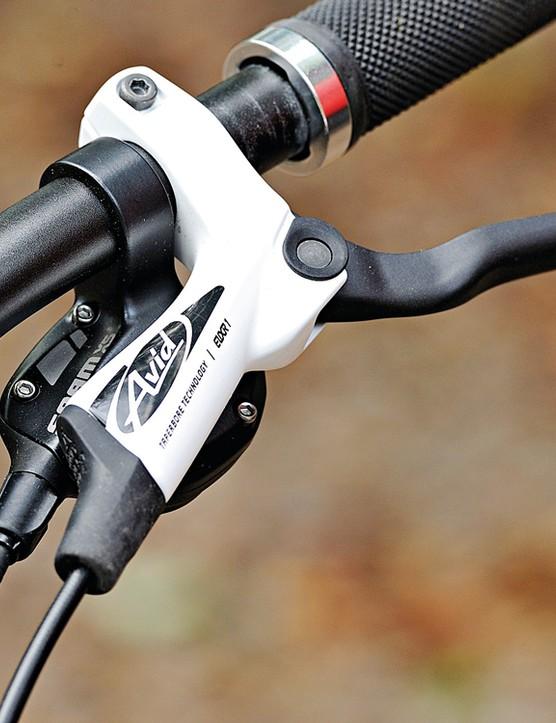 Avid's Elixir 1 brakes do a decent job of scrubbing off speed