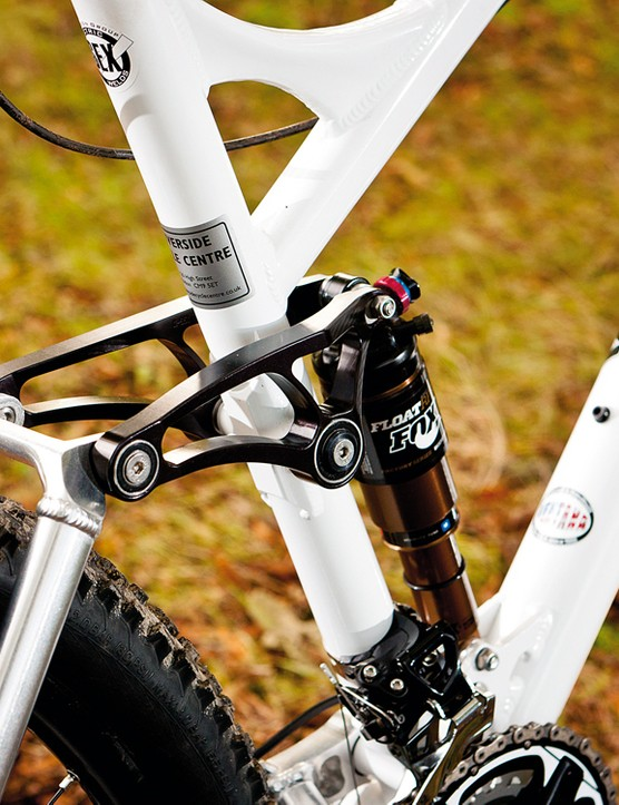 The Kashima-coated Fox RP23 shock comes into its own as you hit the bigger stuff