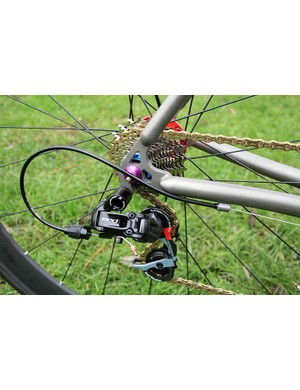 SRAM Red makes up the bulk of the groupset