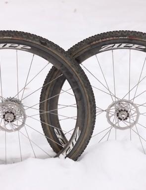 Zipp's prototype 303 Firecrest tubular wheelset, set for cyclo-cross