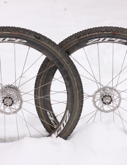 Zipp's prototype 303 Firecrest tubular wheelset, set for cyclo-cross