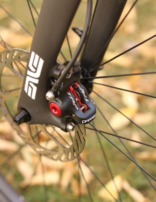 The cutting edge: ENVE's disc fork and TRP's hydraulic Parabox brake system