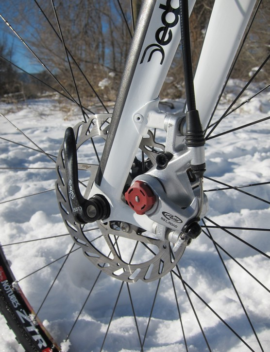 Disc brakes offer lots of benefits for 'cross, including far better modulation and more consistent all-weather performance than any rim brake