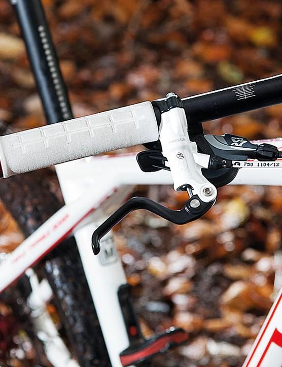 Formula RX brakes help keep the Zaskar under control