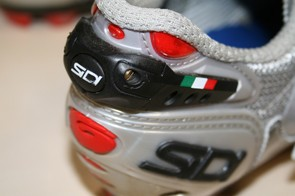 A key feature of the Sidi Dragon 3 Carbon shoes is the adjustable heel retention device