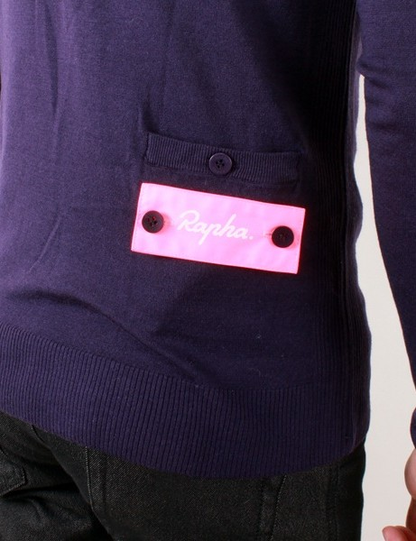 Rapha's City Jersey fits more like a sweater, but has the obligatory nod to cycling with a offset rear pocket