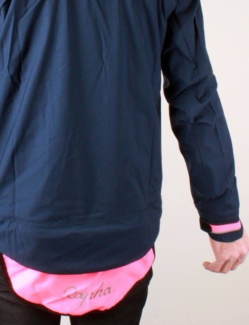 The jacket's high-vis and reflective accents