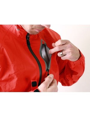 The zippers on Bontrager's Stormshell are waterproof, thought the pocket isn't secure against sweat vapor