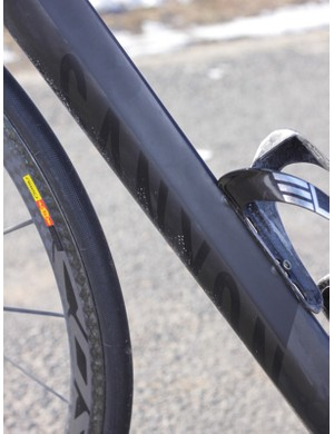 The big teardrop shaped downtube doesn't lend to the ride performance