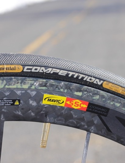 Mavic's stellar CCU wheelset rolls on Continental's Competition tires