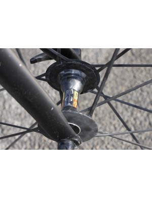 The CCU wheelset's all-carbon (front) wheel construction