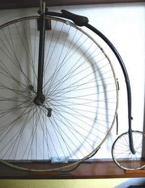This high-wheel bicycle was one of the first produced by Edoardo Bianchi more than 120 years ago
