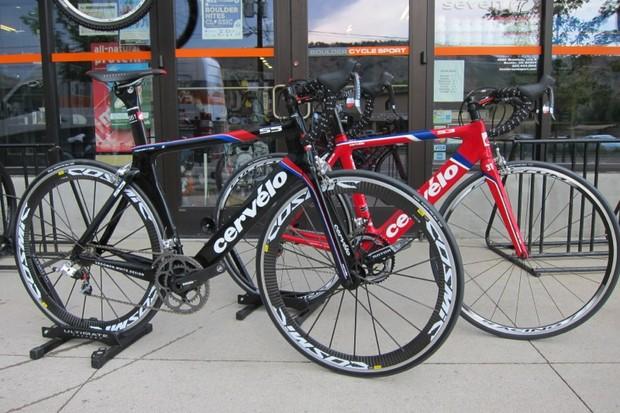 Cervelo's S5 and S3 aerodynamic road bikes