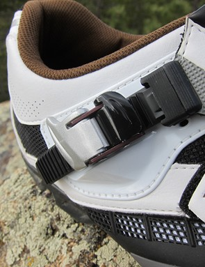 Shimano's micro-adjust buckle provides ample adjustability and a secure fit
