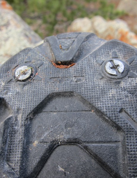 Toe spikes can be added to the M162 if the rubberized sole doesn't provide enough traction