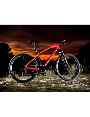 It's hard to miss Mondraker's Podium Carbon cross-country racer, with its Tron-esque lines