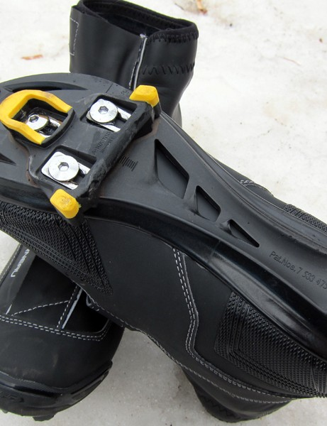 The fiber-reinforced nylon sole is impressively rigid