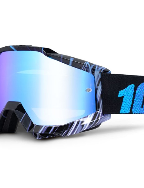 100% have some eye-catching goggle designs, like this Accuri Blue Weld (£44.99 with blue mirror lens)