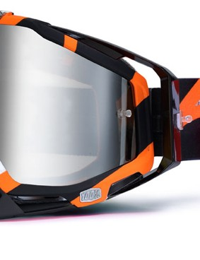 100% Racecraft Orange Destruct, £59.99 with silver mirror lens