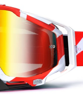 100% Racecraft Red Destruct, £59.99 with red mirror lens