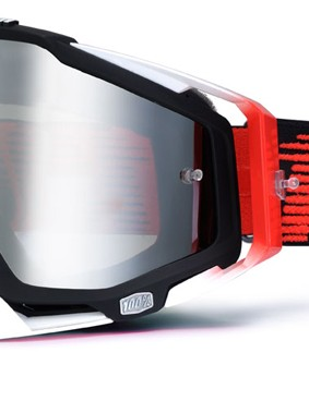 100% Racecraft Black/Red, £59.99 with silver mirror lens