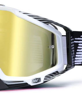 100% Racecraft Black/White, £59.99 with gold mirror lens