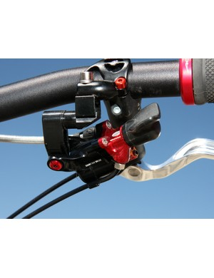 The Acros A-GE hydraulic shifter currently isn't that big but in order to create a fully hydraulic road group, Magura and Acros would have to figure out a way to tuck all the hardware inside a conventionally sized road lever body - along with a master cylinder for the brakes, too