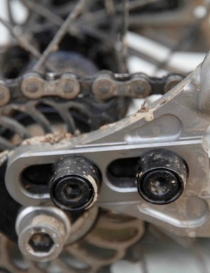 The machined dropouts will work with either geared or singlespeed drivetrains depending on what plate is installed