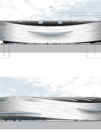The arena is designed to fit 5,000 spectators