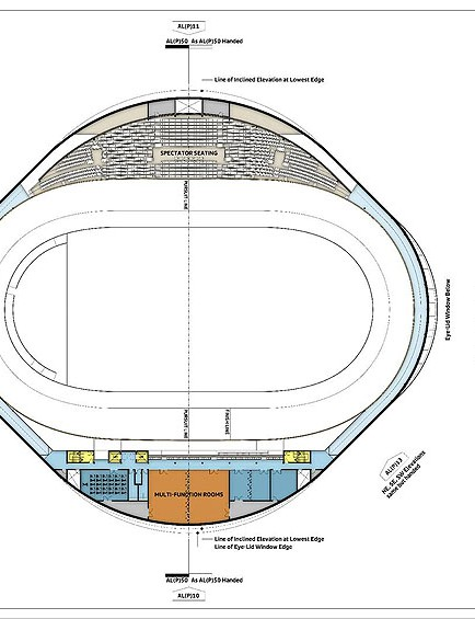The velodrome track will be built to Olympic specifications