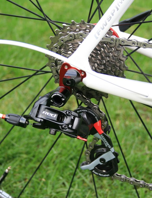 The Kyklos Featherweight Plus Killer comes as a frameset-only package, but finishing components such as SRAM Red can be added