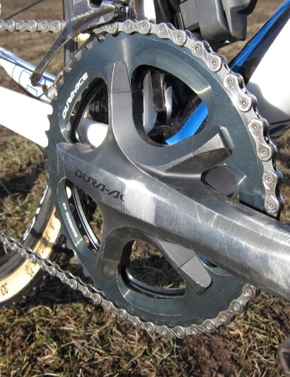 The 46-tooth Dura-Ace 'cross ring was available for sale for a period of time, but the Dura-Ace chainring nuts, whose profile matches the 7900 crank, are a 'pro only' item