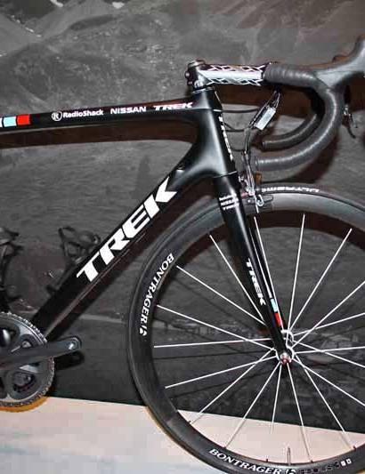 The RadioShack-Nissan-Trek team will roll on Bontrager wheels for 2012