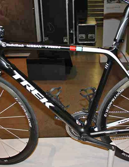 Carryover RadioShack riders will find themselves on a much quieter looking bike for 2012