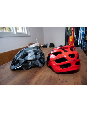 2012 Fox Flux helmets – pictured are the black camo and red colourways