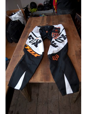 2012 Fox Push pants in white/orange