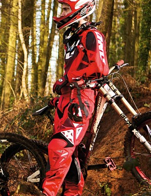 The Athertons will have new racewear this year – here's One Industries' Defcon kit being modelled by Mountain Biking UK's Rob Weaver