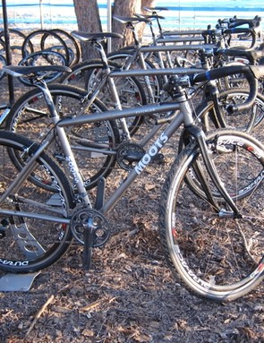 Moots also provided the frames for Shimano's neutral service at the US cyclo-cross nationals; though it's the standard Psychlo-X, it's still a darn nice ride, should a one-bike rider need a rig during their race