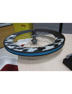 One of the Race Shop's prototype aero downhill wheels
