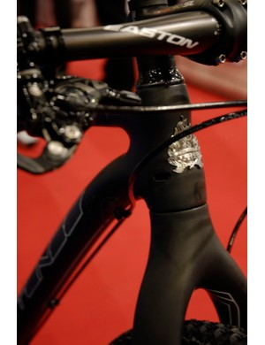 The classic Intense badge adorns the Hard Eddie's tapered head tube