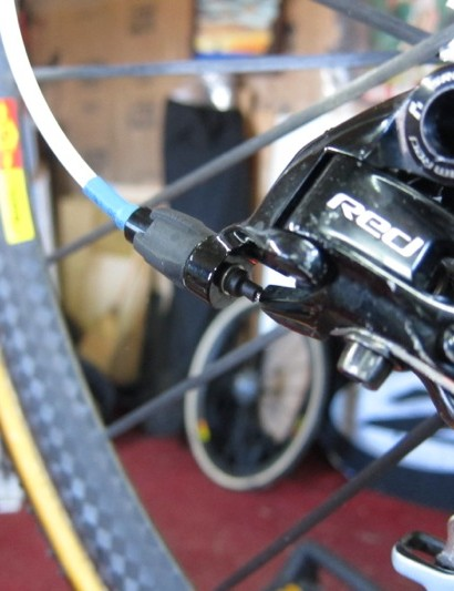 He even seals the cable as it exits to the rear derailleur anchor bolt