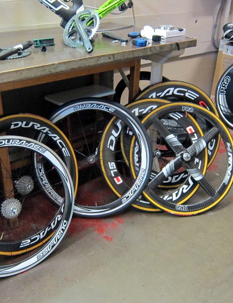 Felt and Project 1t4i tested a wide range of wheel combinations in the wind tunnel to determine what was best in various conditions