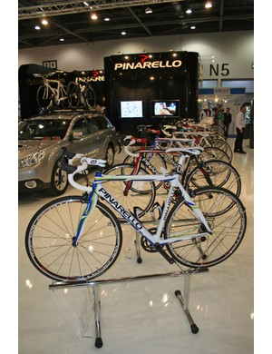 Pinarello have a large stand at the London Bike Show