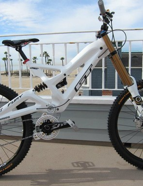 This is the bike Gee Atherton will be racing on this year, although some changes may be made to the decals and components