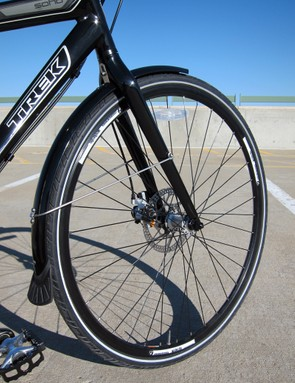 The stock wheels are built with 36 spokes for durability