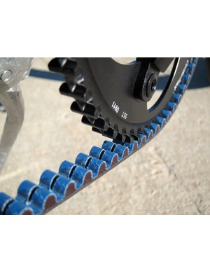 Our test bike's Gates CenterTrack belt drive system required no maintenance, even through the rain, snow and slush of a Colorado winter