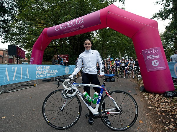 Victoria Pendleton at Cycletta last year