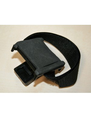 Magiclight Helmet Mounting Bracket – note how the strap passes under the foam padding, creating a hump