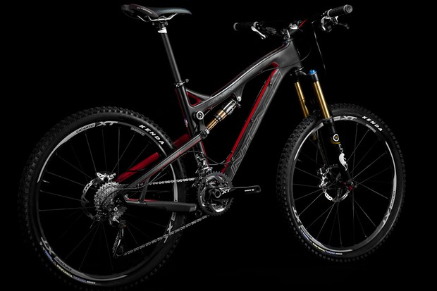 """Intense say the Carbine SL is designed for cross-country/light trail duties but this is no Euro-style XC bike. As the Californian company put it, it's """"carbon fiber with an American attitude"""""""