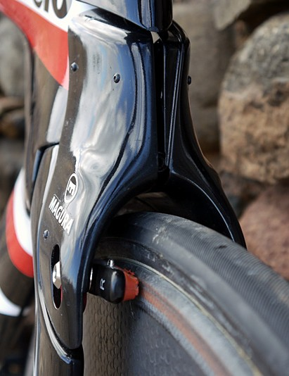 The non-UCI legal front brake fairing